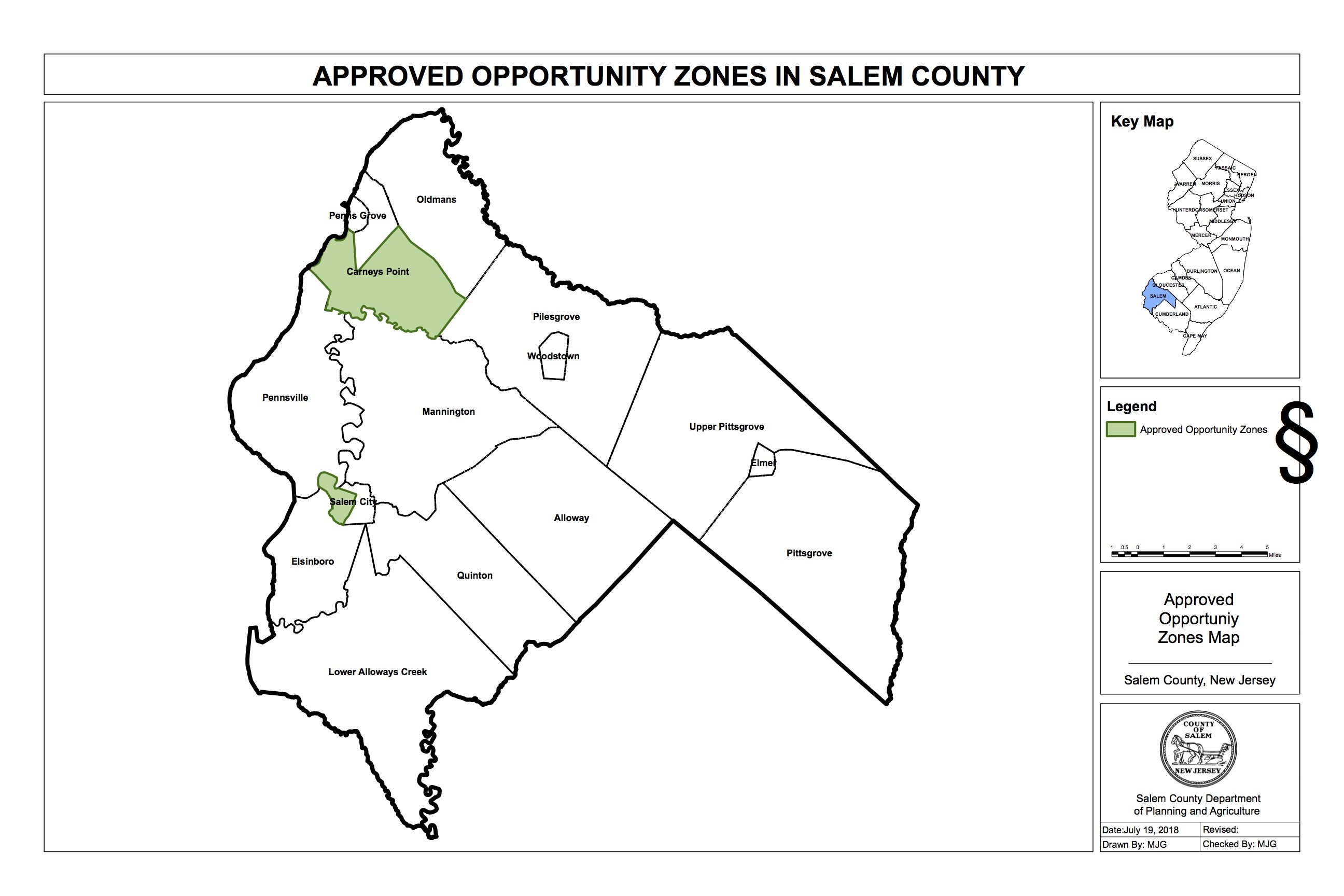 Approved opportunity zones map